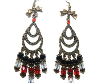 Crystal waterfall chandelier earring