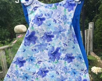 Reversibleblue floral print sway dress