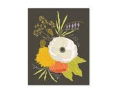 Flower Art Print, 8x10 pr...