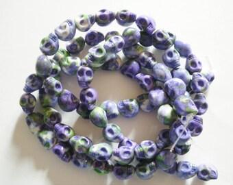 39 jade 10-11 mm skull beads
