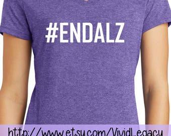 SALE: ENDALZ in White Glitter!  #ENDALZ Alzheimer's Shirt