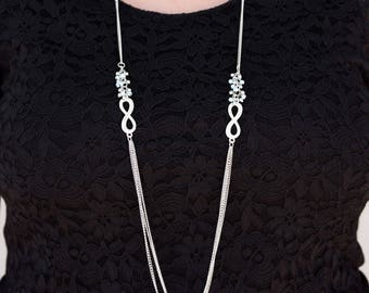 Fashion Lanyard, ID Badge Holder, Necklace Lanyard, Silver Lanyard, Badge Necklace, Cute ID Lanyard, Pretty Lanyard Necklace