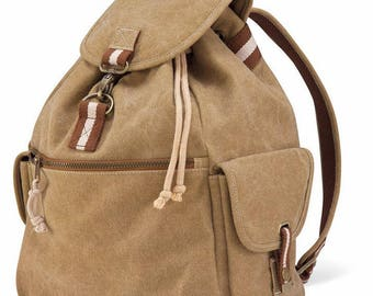 canvas fabric backpack