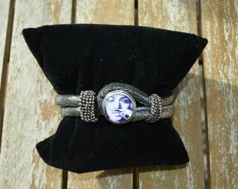 chunk beige leather bracelet