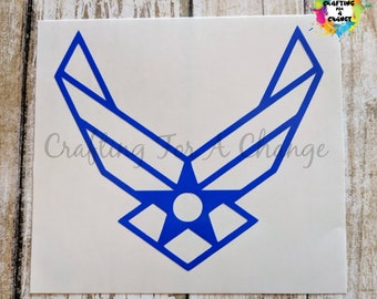 USAF Wings Vinyl Decal, USAF Wings Decal, USAF Decal, Air Force Decal, Car Decal, Vinyl Decal, Vinyl Sticker, Laptop Decal, Yeti Decal
