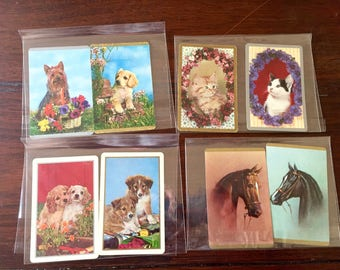 Vintage Swap Cards, 1960s Swap Cards, Vintage Trading Cards, Collectable Playing Card, Paper ephemera