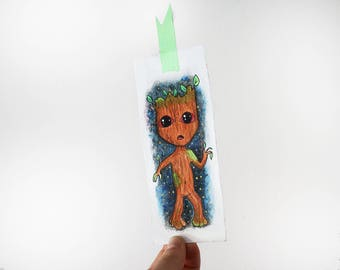 Bookmark Groot - watercolor - hand made