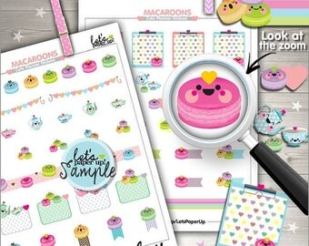 60%OFF - Macaron Stickers, Printable Planner Stickers, Tea Party Stickers, Kawaii Stickers, Planner Accessories