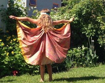 Silk Fairy Wings, Orange Silk Wings, Orange Butterfly wings, Orange Fairy Wings