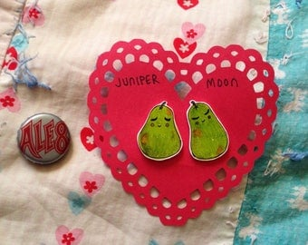 We Make A Great PEAR Valentine Pin Set