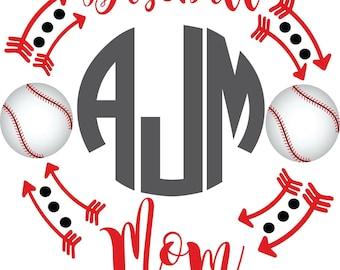 Baseball Mom Sublimation Transfer, Baseball, Transfer