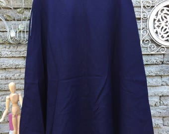Vintage 1950's *  1960's Navy Wool Skirt * Robert Kirk * Size XS to Small