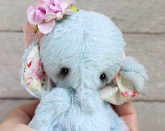 "Stuffed elephant "" Little lady "".Teddy Bear.OOAK teddy.Mini teddy bear.Artist teddy bear.Retro teddy bear.Teddy"