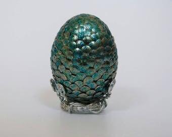 Dragon egg green-blue, decoration