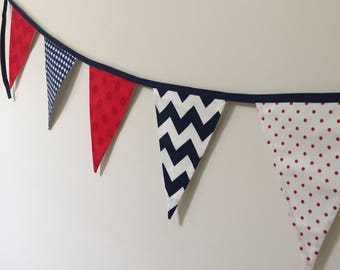 Modern Red, White and Blue Bunting/Party Garland / Flags / Party decoration /Wall hanging