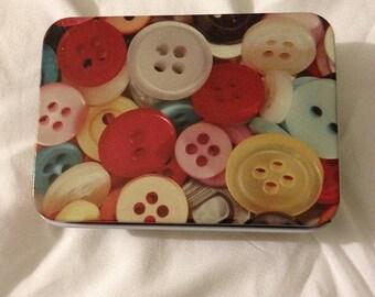 Cute Tin Box - Buttons #2