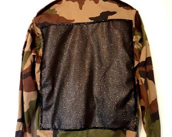 Genuine jacket military camouflage customized