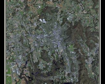 Huntsville Alabama Satellite Poster Map