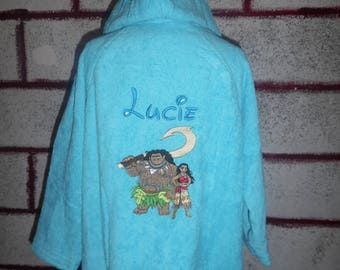 Personalized kids bath robe