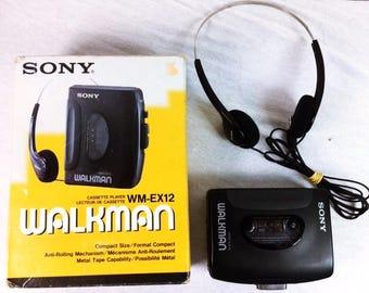 Sony Walkman WM-EX12 Cassette Player - Black Sony Walkman - Stereo Cassette Player - Cassette Walkman