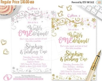 off sale winter onederlandinvitation winter onederland winter wonderland 1st birthday pink and - Winter Onederland Party Invitations