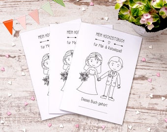 "Wedding coloring book 3 set ""Sweet"" gift"