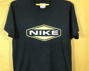 Vintage NIKE Spell Out Swoosh Logo T-shirt Adult Small Size