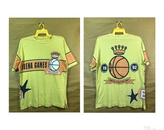 1992 Vintage United Athletic Benetton Arena Game Basketball T-shirt United Colors Of Benetton