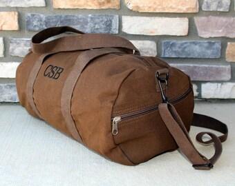 "Groomsmen Gift - 19"" Duffel Bag - Gym Bag - Bridesmaid Gift - Gym Bag - Embroidered Duffle Bag - Canvas Weeken Bag - Monogrammed Bag"