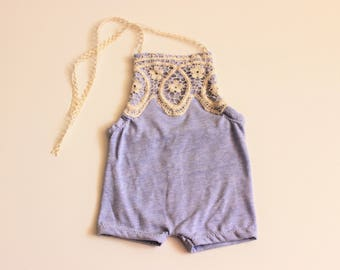 baby 1st birthday outfit girl, Blue Purple baby romper, Periwinkle Baby Romper, Baby Girl Romper, Cake Smash Outfit, Lace Romper,baby romper