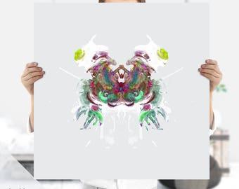 Psychology Art - Psychiatrist Art - Ink Blot Art - Rorschach Art -  Instant Download | Extra Large Print | Medical Art | Psychology Print