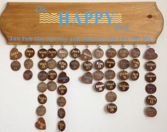 Birthday Calendar board, birthday reminder sign, family calendar, birthday calendar sign, wooden birthday calendar