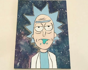 Rick and morty galaxy painting