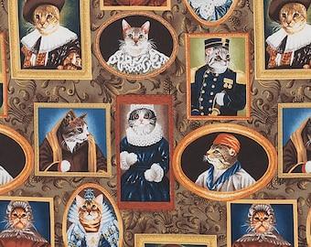 Elizakitten Era By Alexander Henry Fabrics, Cat In Clothes, Cat Lady Cat Lover Fabrics