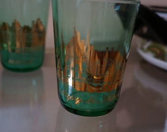 Gold and Green Chaumont Tumblers