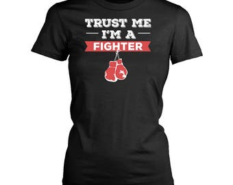 Fighter womens fit T-Shirt. Funny Fighter shirt.