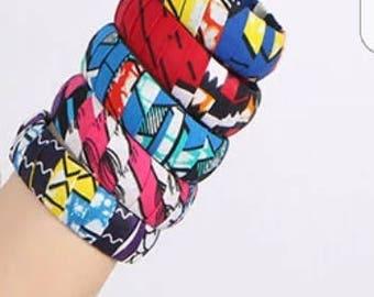 Colourful Africanprint bracelet bangle