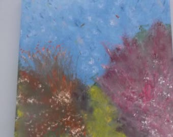 """Original oil on canvas painting ocean underwater sea life signed by artist V. Anstey size 12"""" X 12""""."""