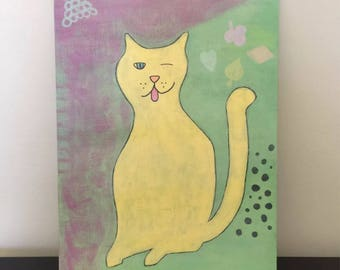 Sassy Cat - original art painting.