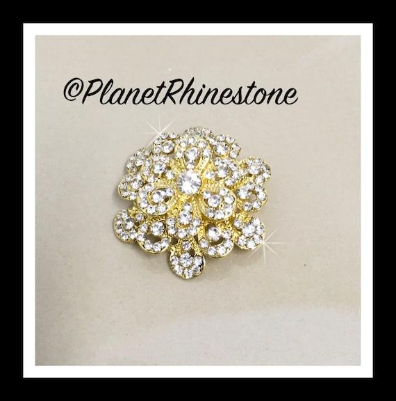 Crystal Rhinestone Brooch #B-2