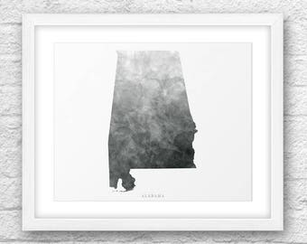 Alabama Map, Alabama Print, Alabama Art, Alabama State, Alabama Minimal Design, Minimalist Art, Alabama Printable,InstantDownload, ModernArt