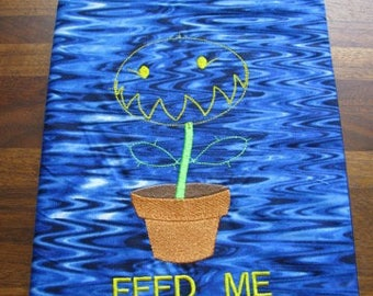 Feed Me Carnivorous Plant Journal, Diary, Notebook Cover - BOOK INCLUDED