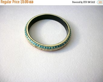 ON SALE Vintage India Fleur Colorful Lacquered Wooden Hand Painted Bangle 102916