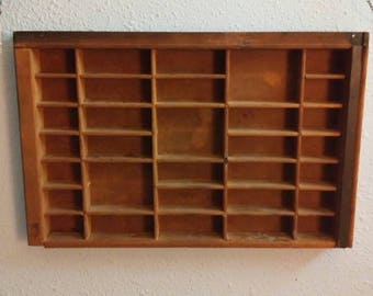 Antique printers tray. Free shipping!!