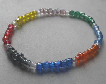beaded bracelet -multi colour