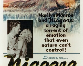ON SALE NOW: Niagara Movie Poster (1953) Drama/Thriller Marilyn Monroe