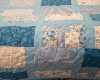 queen size hand made quilts bahama blue
