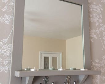 Painted Mirror, Grey Mirror, Reclaimed Mirror, Pallet Wood, Bathroom Mirror, Hallway Mirror, Reclaimed Wood, Handmade Mirror, Annie Sloan