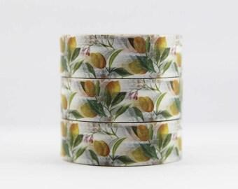 Washi tape lemons masking tape