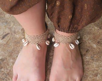 Boho Beachy Anklets - Pair